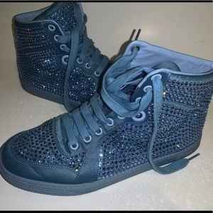603397266af Gucci Baby Blue Glitter Sneakers Hightops